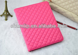 quilted PU flip cover for ipad air 2