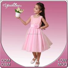 Super Elegant Design Dress Pink Chiffon Children Costume Kids Party Dresses for Little Girl Dress
