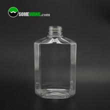 360ml clear PET plastic empty hand wash bottle with 28/410 neck size, 12oz plastic PET hand sanitizer bottle with pump dispenser