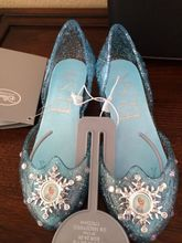 100% Authentic New Disneys Store Frozen Queen Elsa Light Up Costume Shoes