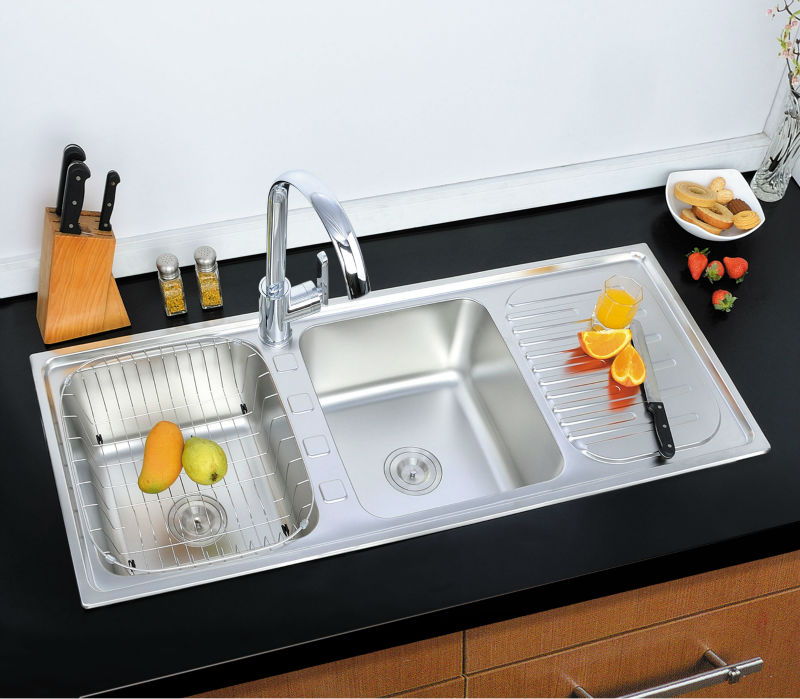 Double Kitchen Sinks With Drainboards Befon For