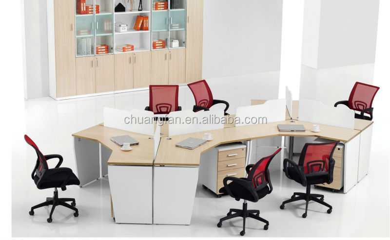 Sd d0522 usine vente directe moderne 3 places bureau poste for Bureau 4 postes de travail