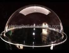 Yuanke clear acrylic half ball, transparent plexiglass semiphere, size can be customized