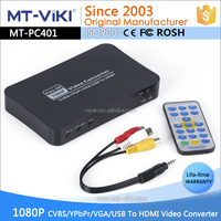 Multi-Input All To HDMI Video Audio Converter Usb VGA AV Ypbpr to HDMI converter support 1080p MT-PC401