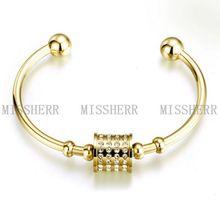 18k oro brazalete pulsera con circón en venta al por mayor de China NSB282