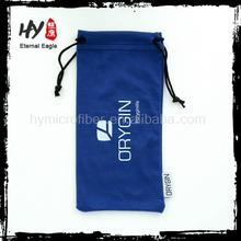 Logo printed wholesale microfiber sunglasses bag,microfiber drawstring bags,microfiber sunglass bags
