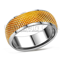 innovation design gold plated stainless steel ring