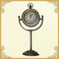 Porcelain mini curio table clock
