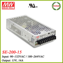 Meanwell switching power supply 15v 14a SE-200-15