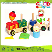 Hotsale 100%Handmade Wooden Colorful Car,Animal Vehicles Toys For Kids
