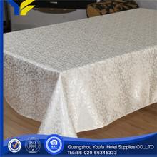 Lace Fabric Guangzhou Jacqurd the ecru organza table cloth for decoration