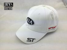 Perfect design side embroidered logo baseball cap girls white baseball cap