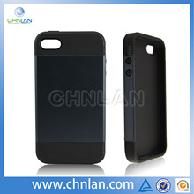 High quality hybrid case silicon cover for iphone 4