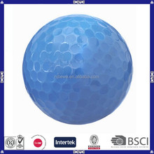 Hot sale bulk coloful two piece practice blank golf ball