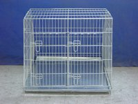 inclining metal dog kennel for car