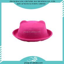 Fashion design cheap pink children felt hats