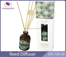 healthy aroma diffuser glass perfume diffuser bottle reed sticks diffuser solution