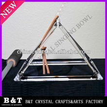customized quartz crystal pyramid for sound therapy QSP001