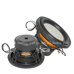 dual 12 inch car subwoofer with aluminum basket