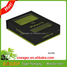 Customized magnet paper gift box with clear pvc window