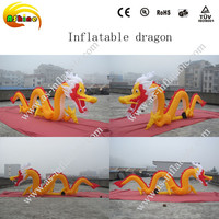 gold yellow advertising animation outdoor giant inflatable dragon
