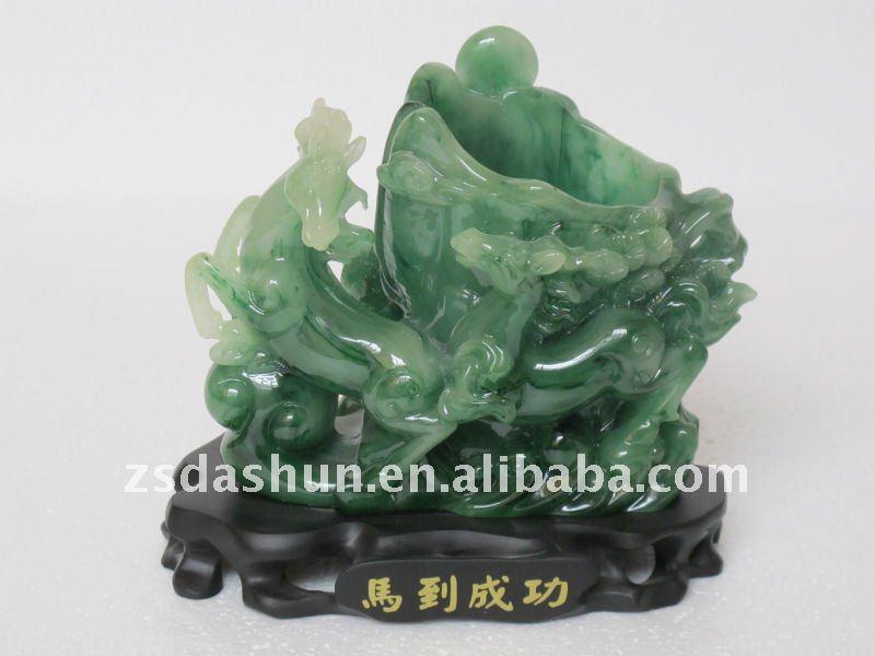 Chino 2014 imitación de jade artes de la resina casa& decoración de la oficina