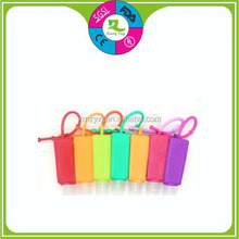 silicone water bottle case/silicone perfume bottle cover/silicone watch bottle shoulder hook