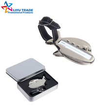 Customized airplane shaped zinc alloy metal luggage tags for travel