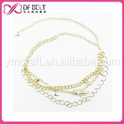 2015 woman fashion waist chain belts wholesale with shoe pendant