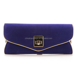 NATASSIE 2015 hot sale suede clutch bag 2598