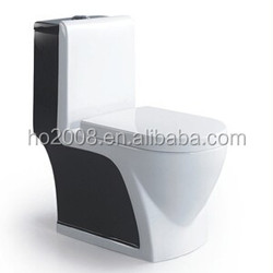 Bathroom Sanitary Ware China Manufacturer Black One piece Toilet