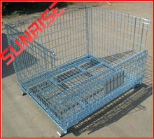 foldable galvanized metal wire dog cage