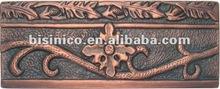 Fresco Flower Liner Border Tiles/Copper Border Tile/Hammered Copper Wall Tiles-B270533