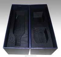Luxury pvc wine bag packaging gift wine box handmade paper wine carrier