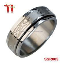 Men's Spinner Dragon Worry Ring 316L Stainless Steel
