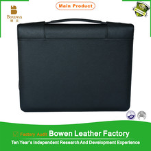 Bowen BWF-7-8 brown leather A4 portfolio folder high quality portfolio case