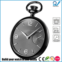 modernly design style watch stainless steel case quartz japan movement custom pocket watch