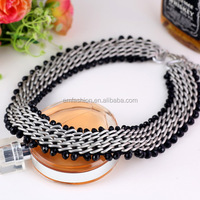 New Collection Aluminium Chains Beads Braided Women Choker Necklace