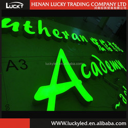 Magical Green Color Epoxy Resin LED Channel Letters for your Shop Board, Your Choice! Your Success!