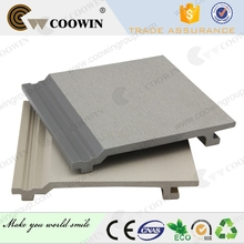 Gray composite exterior house coverings
