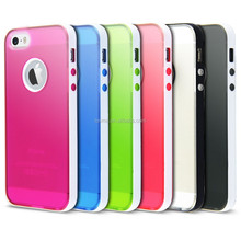 Silicone Bumper Case and Screen Protector for iPhone 5S & 6 Cover