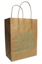 Custom Printed Cheap Brown Paper Gift Bag With Handles for Promotion