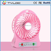 Strong Wind Portable Mini Rechargeable Usb Fan for Office and Travel