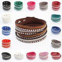 New Unisex Multilayer Leather Bracelet Christmas Gift Charm Bracelets Vintage Jewelry For Women Pulsera