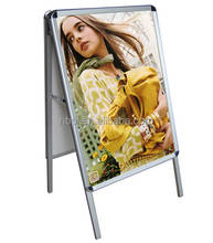 A1,A0 aluminum floor standing double side poster frame display