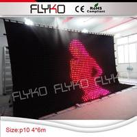 bendable cheap decorative led star curtain