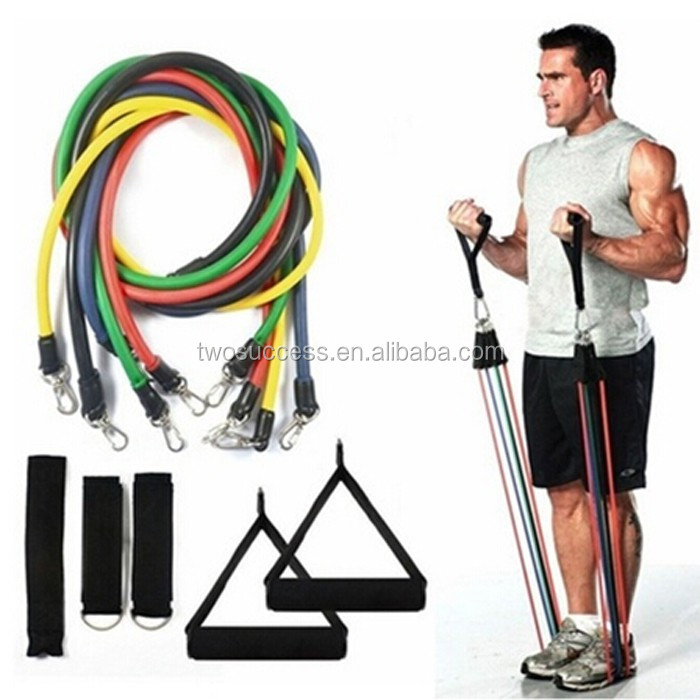 Fitness Latex Exercise Resistance Band SetResistance Tube PackBungee Cords