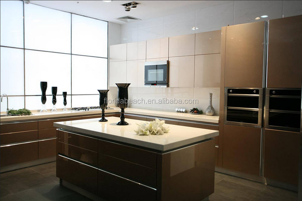 Modern Kitchen Cabinet European Style High Glossy Kitchen Cabinet