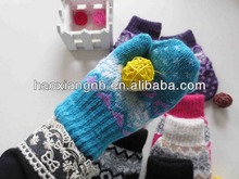 wholesale high quality colorful winter warm kids baseball gloves