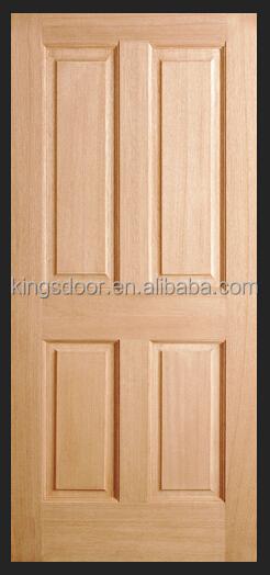 Chine populaire 4 panneau int rieur porte en bois massif for Porte des chambres en bois